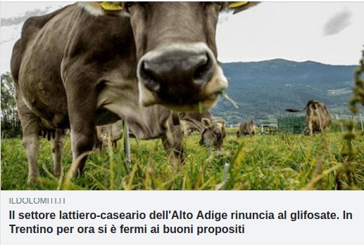GLIFOSATE, ALTO ADIGE FRA MARKETING E BUONE PRATICHE AGRICOLE